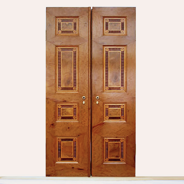 Restaurierung - Intarsien-Doppeltüren der Villa Hamilton 1793_Neu