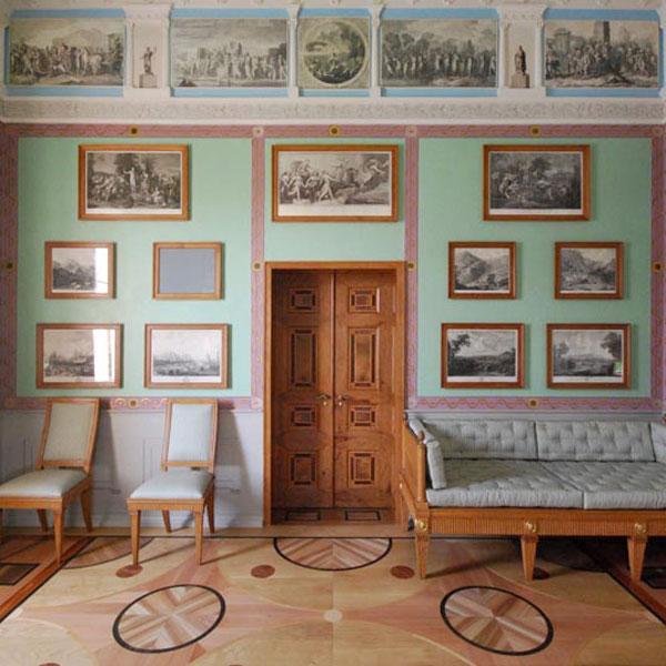 Restaurierung - Intarsien-Doppeltüren der Villa Hamilton 1793_Wand