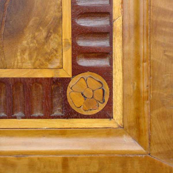 Restaurierung - Intarsien-Doppeltüren der Villa Hamilton 1793_Arbeit deteil
