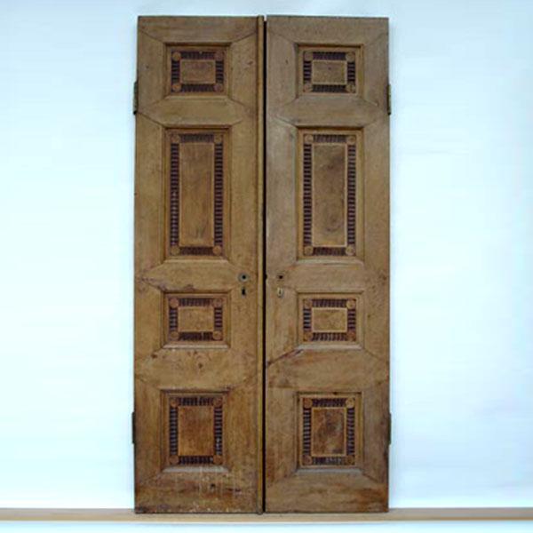 Restaurierung - Intarsien-Doppeltüren der Villa Hamilton 1793_Vorzustand