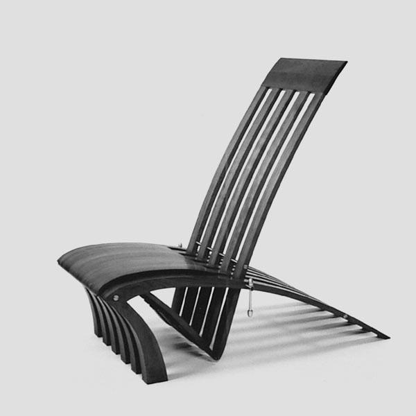 Gestaltung-Liege- und Stuhlobjekt X-EVO/ eigener Entwurf_Stuhl dunkel