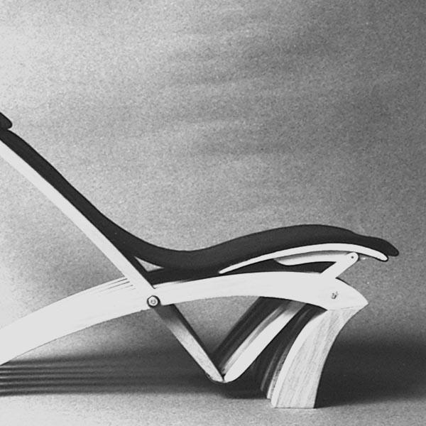 Gestaltung-Liege- und Stuhlobjekt X-EVO/ eigener Entwurf_Entwurfsmodell Stuhl